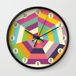 Heptagon Quilt 1 Wall Clock