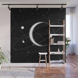 Sacred Solar System - Spiritual Healing Moon Art Wall Mural