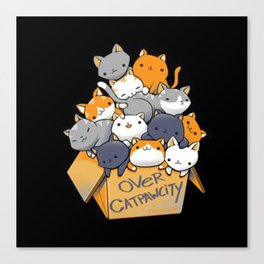 over-catpawcity-t-shirt Canvas Print