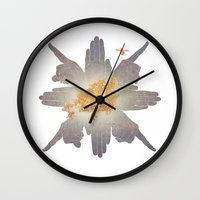 compass Wall Clocks featuring Compass by Rhea Ewing