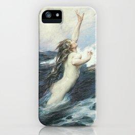 Flying Fish by Herbert James Draper iPhone Case