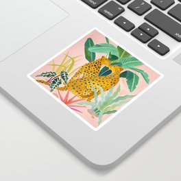 Cheetah Crush Sticker