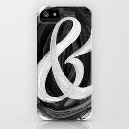 Thick Swirl Ampersand Black & White iPhone Case