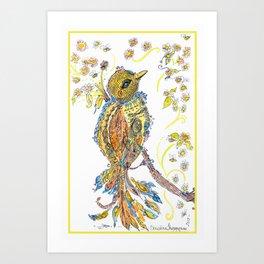 Lace Bird Art Print