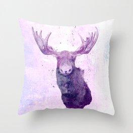 Moose Springsteen Throw Pillow