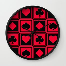Playing card 2 Wall Clock