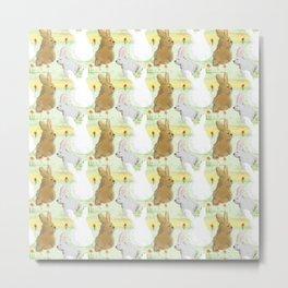 bunnies pixel art Metal Print
