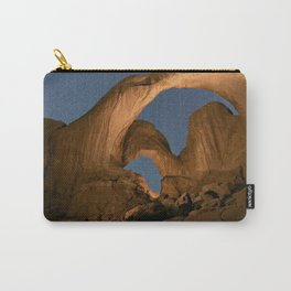 Double Arch And The Milky Way - Arches National Park - Moab, Utah. Carry-All Pouch