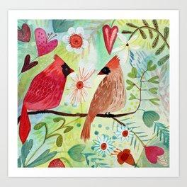 Cardinal Duo Art Print