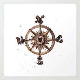 Wheel - Compass Art Print