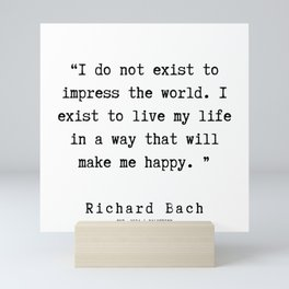 10  | Richard Bach Quotes | 190916 Mini Art Print