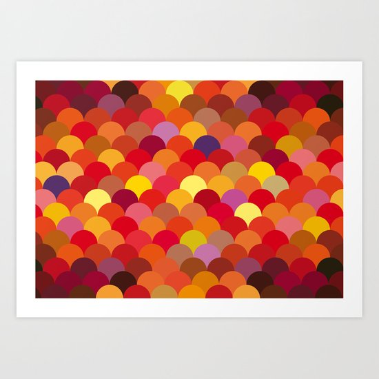 Red Scales Art Print