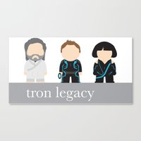 tron Canvas Prints featuring Tron by mikesmiy