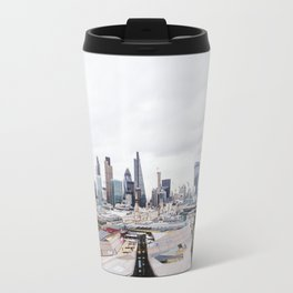 City View of the Financial District of London from St. Paul's Cathedral Travel Mug