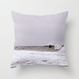 The Wave and the Wind Throw Pillow