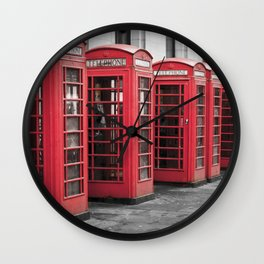 The Phone Boxes  Wall Clock