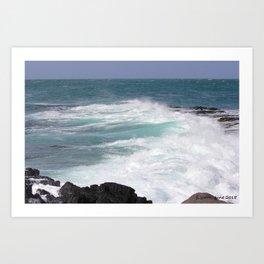 Furious ocean Art Print