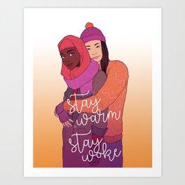 Stay Warm Art Print