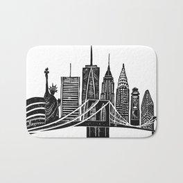 Linocut New York Bath Mat