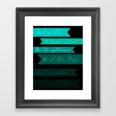 FIRST (MATTHEW 6:33) Framed Art Print