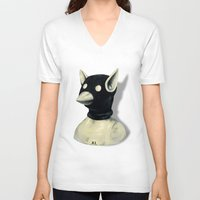 hat V-neck T-shirts featuring Bandit Hat by FAMOUS WHEN DEAD