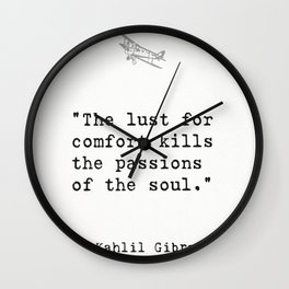 Kahlil Gibran quote Wall Clock