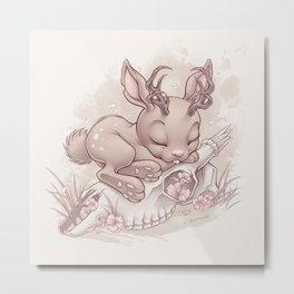 Jackalope Bunny Metal Print