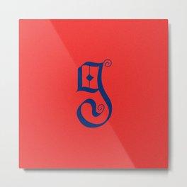 Letterform G Metal Print