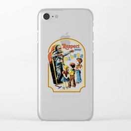 Respect Your Elders Clear iPhone Case
