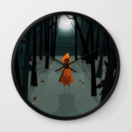 Woods Girl Wall Clock