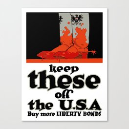 Keep These Off The USA Canvas Print