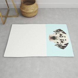 Dalmatian // Pastel Blue Rug