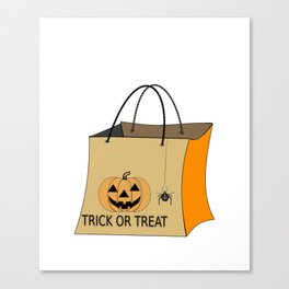 Halloween Will Trade Sister For Candy Canvas Print