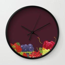 Berries. Sweet summer. Wall Clock