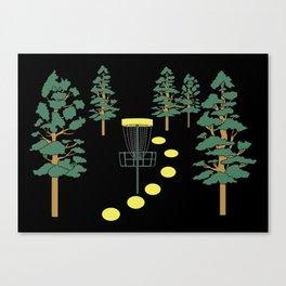 Disc Golf Stupid Trees Woods Men Women Court Gift Canvas Print