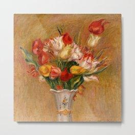 "Auguste Renoir ""Tulipes (Tulips)"" Metal Print"