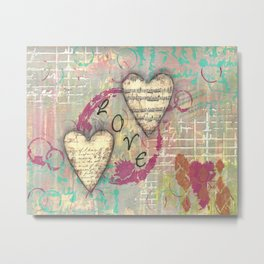 Two Hearts in Love Metal Print