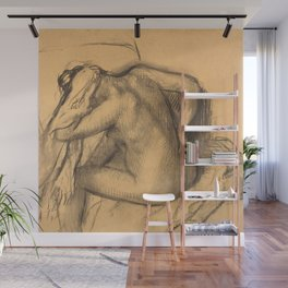 After the Bath, Woman Drying Her Hair Wall Mural