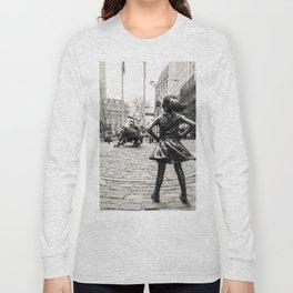 Fearless Girl & Bull - NYC Long Sleeve T-shirt