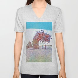 Anza - Borrego Desert Sea Dragon Unisex V-Neck