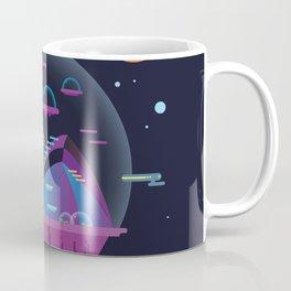 Synthwave Space #3: Cloud city Coffee Mug