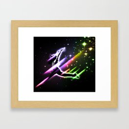 Space Girl Framed Art Print