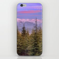 Mountains... pink sunset iPhone & iPod Skin