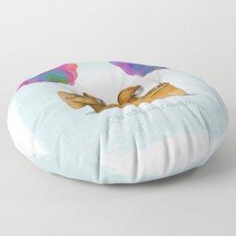 UP Pixar— Love is the greatest adventure  Floor Pillow