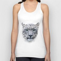 snow leopard Tank Tops featuring snow leopard by ulas okuyucu