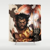 x men Shower Curtains featuring X-MEN by Thorin