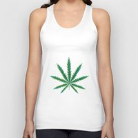 cannabis Tank Tops featuring Marijuana. Cannabis leaf  by artskvortsova