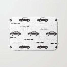 Black automobile road pattern Bath Mat