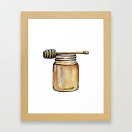 Honey Jar, Honey Bees Framed Art Print