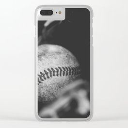 Caught in Black and White Clear iPhone Case